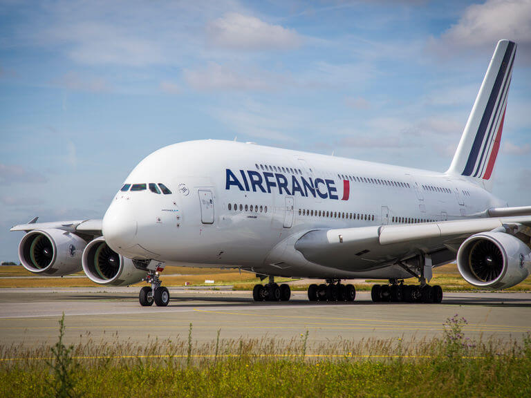 Farewell ceremony of the Airbus A380 at AirFrance